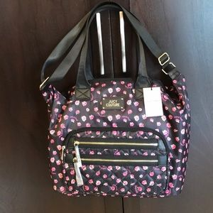 Juicy couture floral tote school bag NEW